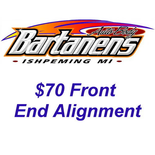 $70 Front End Alignment Certificate