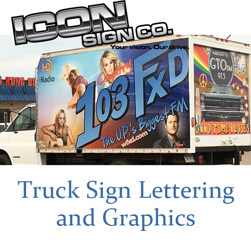 Sign Lettering for Truck with Graphics
