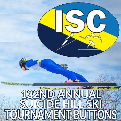 Admission Buttons for 131st Annual Ski Jumping Tournament