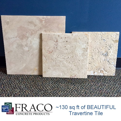 ~130 Square Feet of Beautiful Travertine Tile
